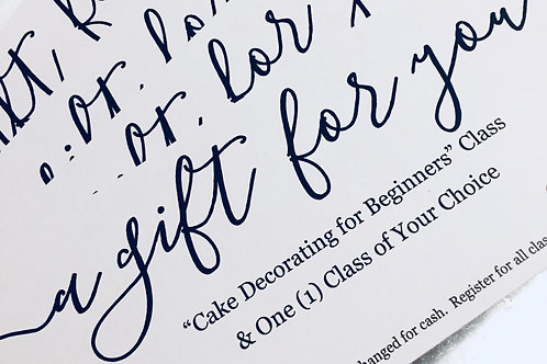 Gift Certificates - Private Lessons