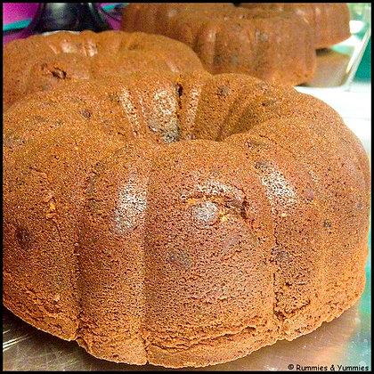 Banana Coconut Pineapple Rum Cake