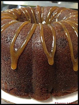 Chocolate Caramel Rum Cake