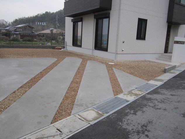 奥行感を出すデザインのコンクリート