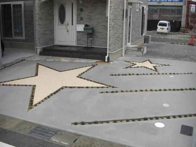 2階から見下ろす流れ星