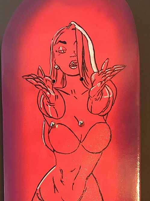 Jessica R skateboard art
