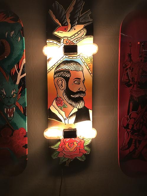 Barbers shop skateboard lamp