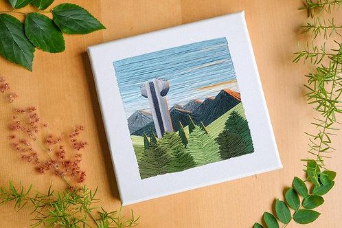 Customised Embroidery Art on Landscape
