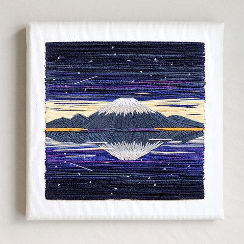 Hand Embroidered Mountain Fuji