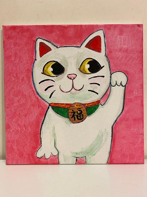 Hand Paint Beckoning Cat
