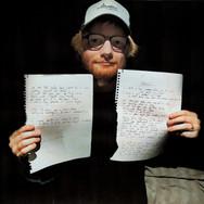 Lot 100 - Ed Sheeran Handwritten and Signed Lyrics for Perfect