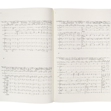 Lot 80 - Facsimile of the Handwritten Full Musical Score for Perfect Symphony by Matthew Sheeran 2016, Signed by the Composer and his Brother Ed Sheeran