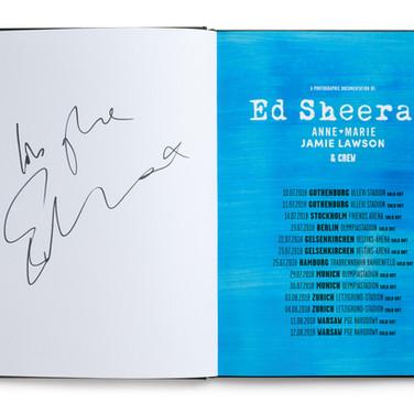 Lot 40 - Photo Book of Ed Sheeran's European Divide Tour, Signed by Ed Sheeran