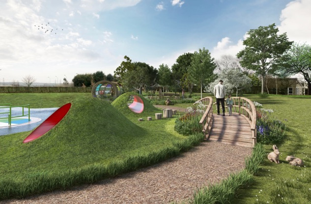 Visuals of the new Thomas Wolsey Ormiston Academy Playground by Richard Wilkinson  (1)