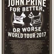 Lot 59 - Signed John Prine World Tour Poster 2017
