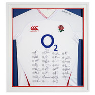 Lot 22 - England Rugby Shirt Signed by the 2020 Team