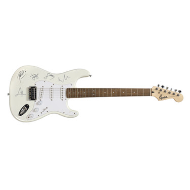 Lot 123 - Snow Patrol Squier Fender Guitar Signed by Every Member of the Band