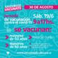 ESTE SÁBADO 19 DE JUNIO ABRE EL VACUNATORIO CONTRA COVID-19 EN 30 DE AGOSTO