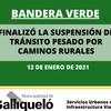 BANDERA VERDE PARA EL TRÁNSITO PESADO POR CAMINOS RURALES