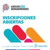 YA ESTÁN ABIERTAS LAS INSCRIPCIONES DE LOS JUEGOS BONAERENSES 2021