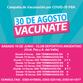 30 DE AGOSTO: ESTE SÁBADO DESDE LAS 9 HORAS SE COMIENZA A VACUNAR CONTRA COVID-19 EN LA LOCALIDAD