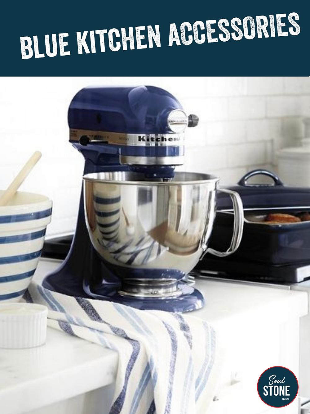 kitchen aid blue mixer