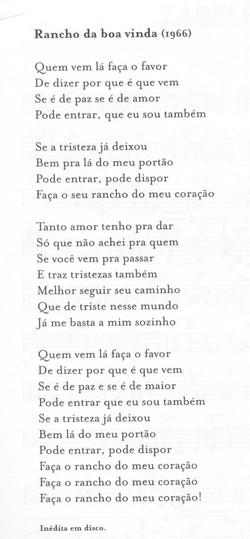 RANCHO DA BOA VINDA