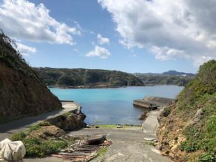 伊豆下田へ・九十浜の海
