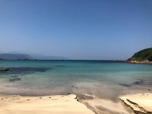 今日の九十浜海水浴場