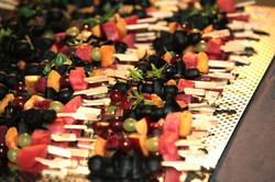 Dessertbuffet, Fruchtspieße
