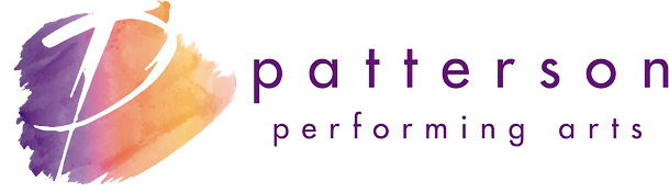 Watercolor Logo for Patterson Performing Arts Music Studio
