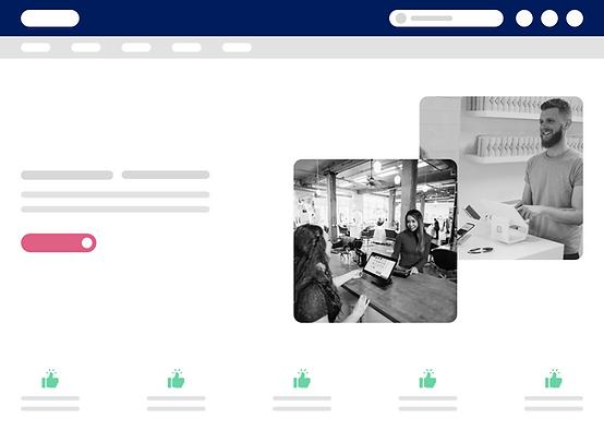 1. Mockup - Custom Website via Wix@1x.pn