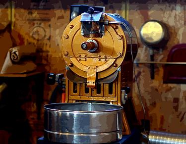 自家焙煎モカジャバ フジローヤル焙煎機