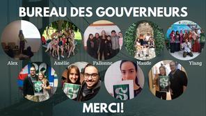 Le Bureau des gouverneurs soutient cinq stages à l'international