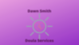 Dawn Smith Doula Business Card Design.pn