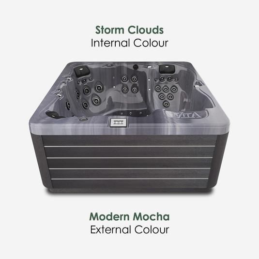 Modern Mocha & Storm Clouds