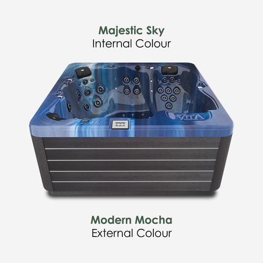 Modern Mocha & Majestic Sky