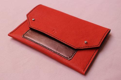 Pochette de Papier de Véhicule - Rouge&Rose métallisé