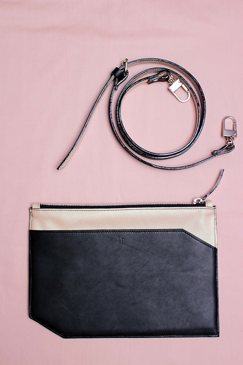 Pochette Wedding - Noir&Nacré