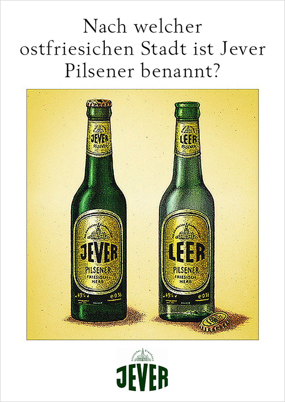 Regionalkampagnen für Jever Pilsener