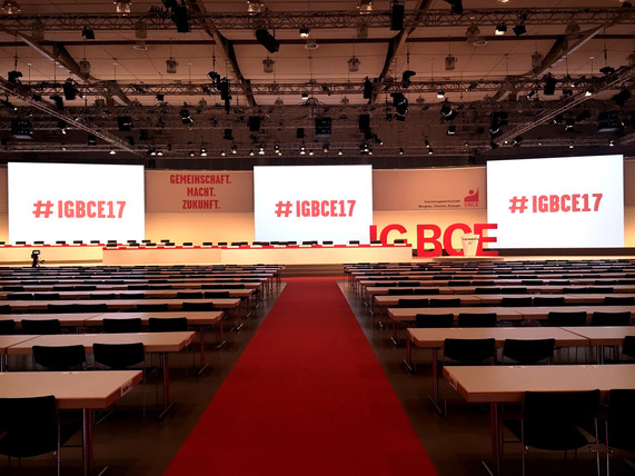 IG BCE Gewerkschaftskongress Bühne
