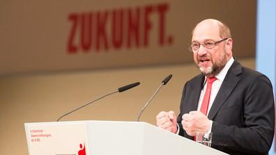 IG BCE Gewerkschaftskongress Martin Schulz