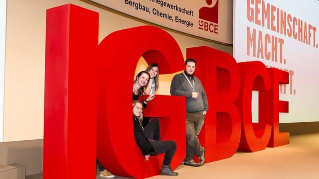 IG BCE Gewerkschaftskongress 3D Logo