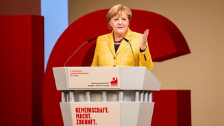 IG BCE Gewerkschaftskongress Angela Merkel
