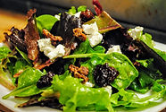 Baby greens salad cherries.JPG
