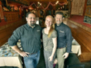 After seven and a half years, these three Risho decided to retire the restaurant, and focus on their booming spice business, and continue their large catering operation.   Abraham, Elise and Sam are committed to a true Global Tasting Experience with every new endeavor. With placement on 600 store shelves in the Pacific Northwest and all over Canada, the next step is to bring these amazing flavors to you in new ways by partnering with restaurant and corporate chefs across the country.    And, don't miss the cameo by little Raena, peeking behind her mom's legs in the bottom of this picture!