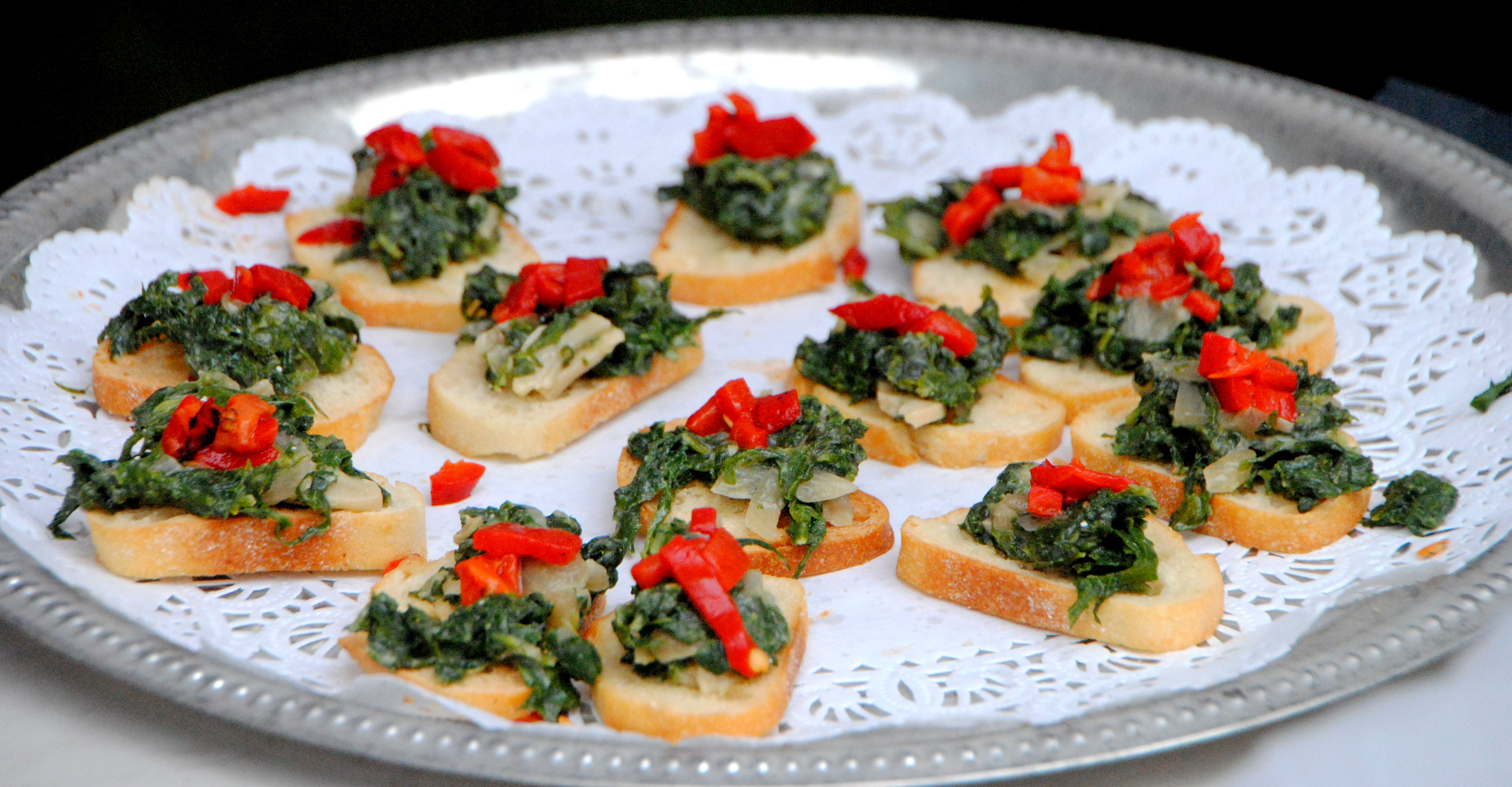 Spinach Crostini Jon & Michelle at Seeley Sep 21, 2013 6-038 Sep 21, 2013 6-37 PM
