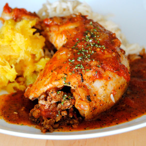 Chicken Stuffed with Lamb (Jaj Ma'a Hashwa)