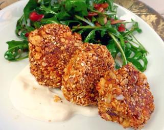Dukkah Croquettes (Leftover Mashed Potatoes)