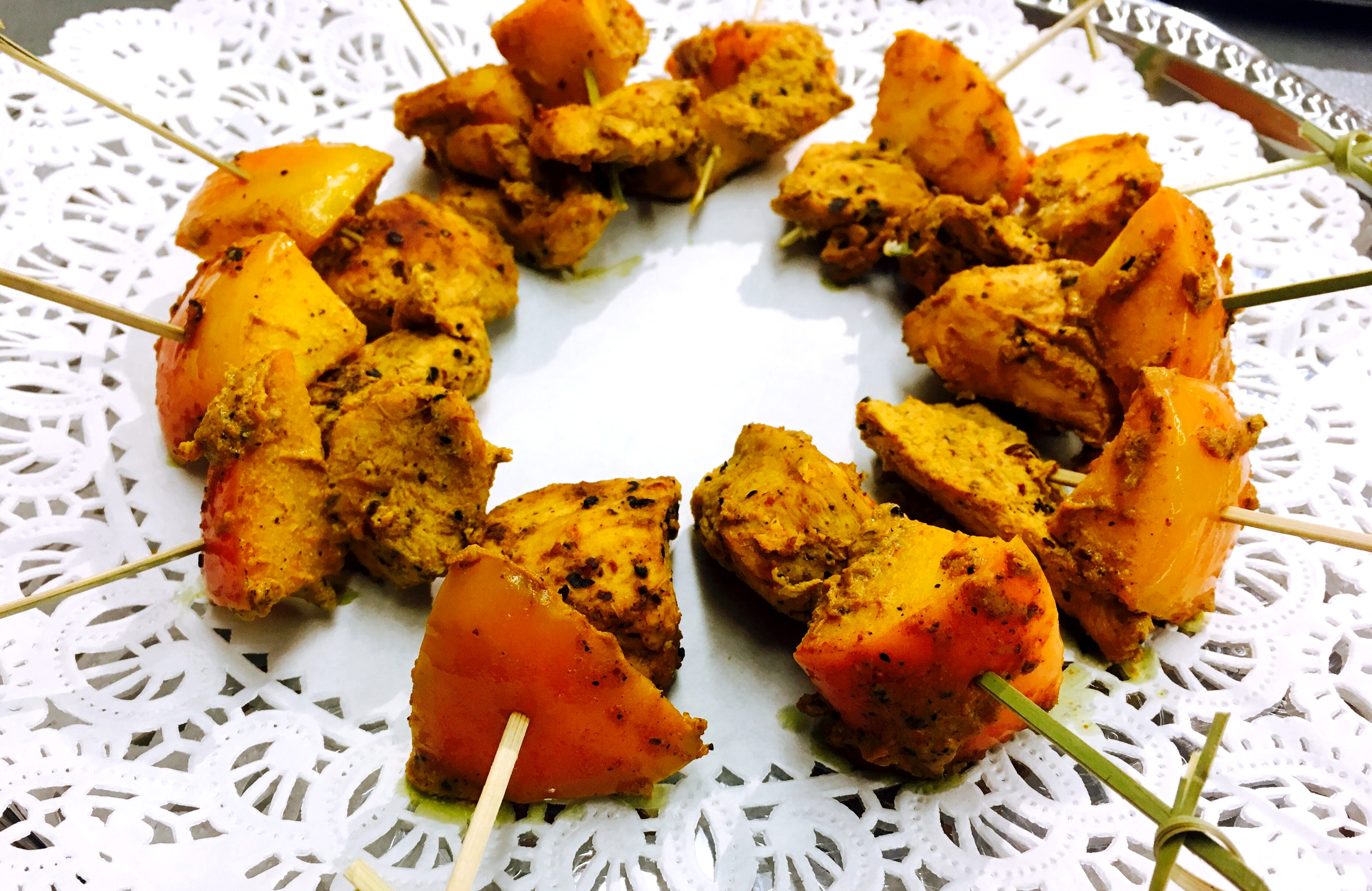 Tandoor Chicken Skewers
