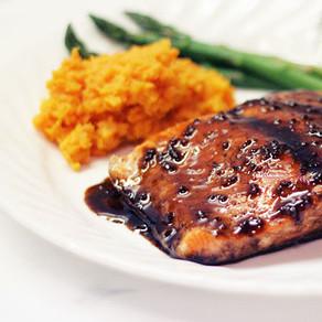 Salmon in Advieh-Pomegranate Sauce