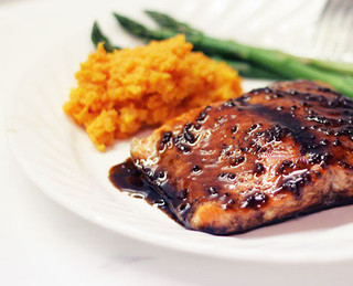 Salmon in Advieh-Pomegranate Sauce