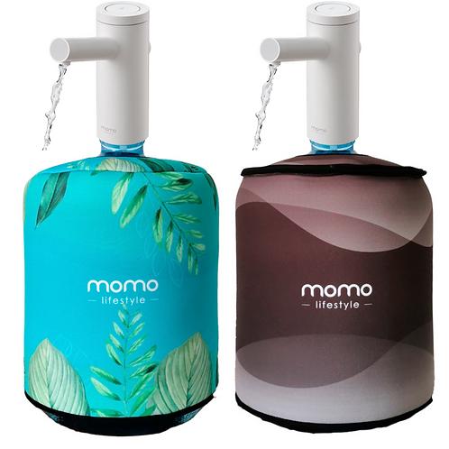Bomba + Capa Oceano10L = Bomba e capa dupla face para galao Ocean Momo Lifestyle