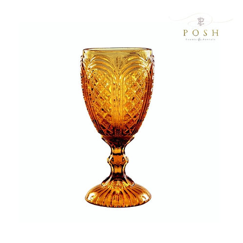 Angelica Amber Glassware Collection